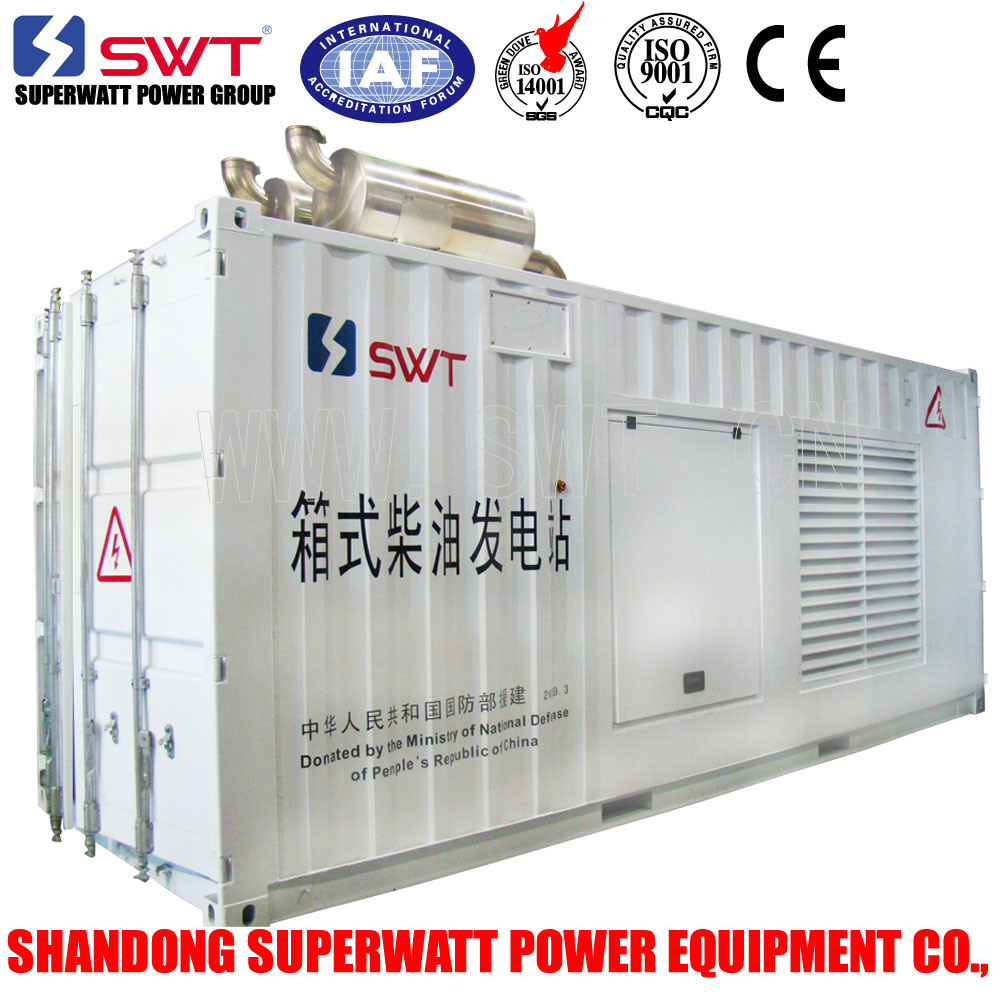 1000kVA-3300kVA Containerized Diesel Generator by Mtu/Cummins Engine Power