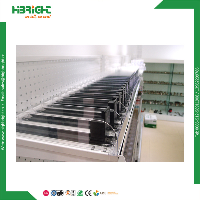 Supermarket Merchandiser Acrylic Shelf Cigarette Pusher