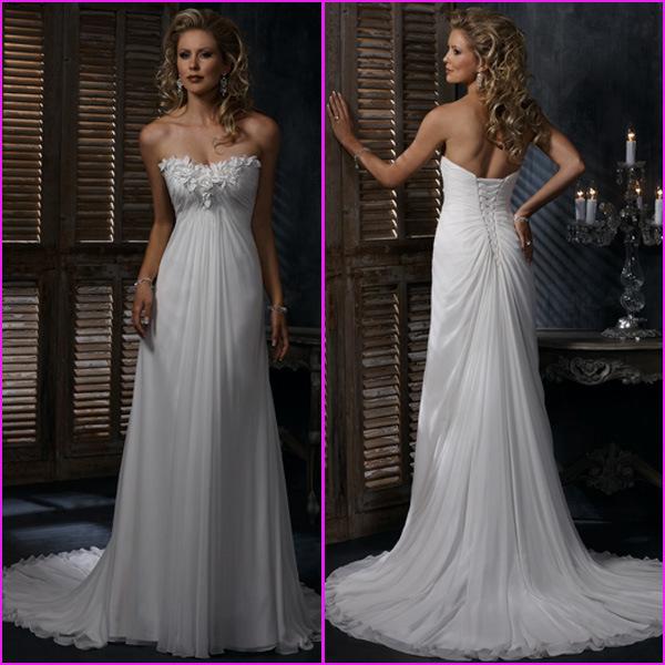 china strapless wedding dress maggie chiffon empire bridal