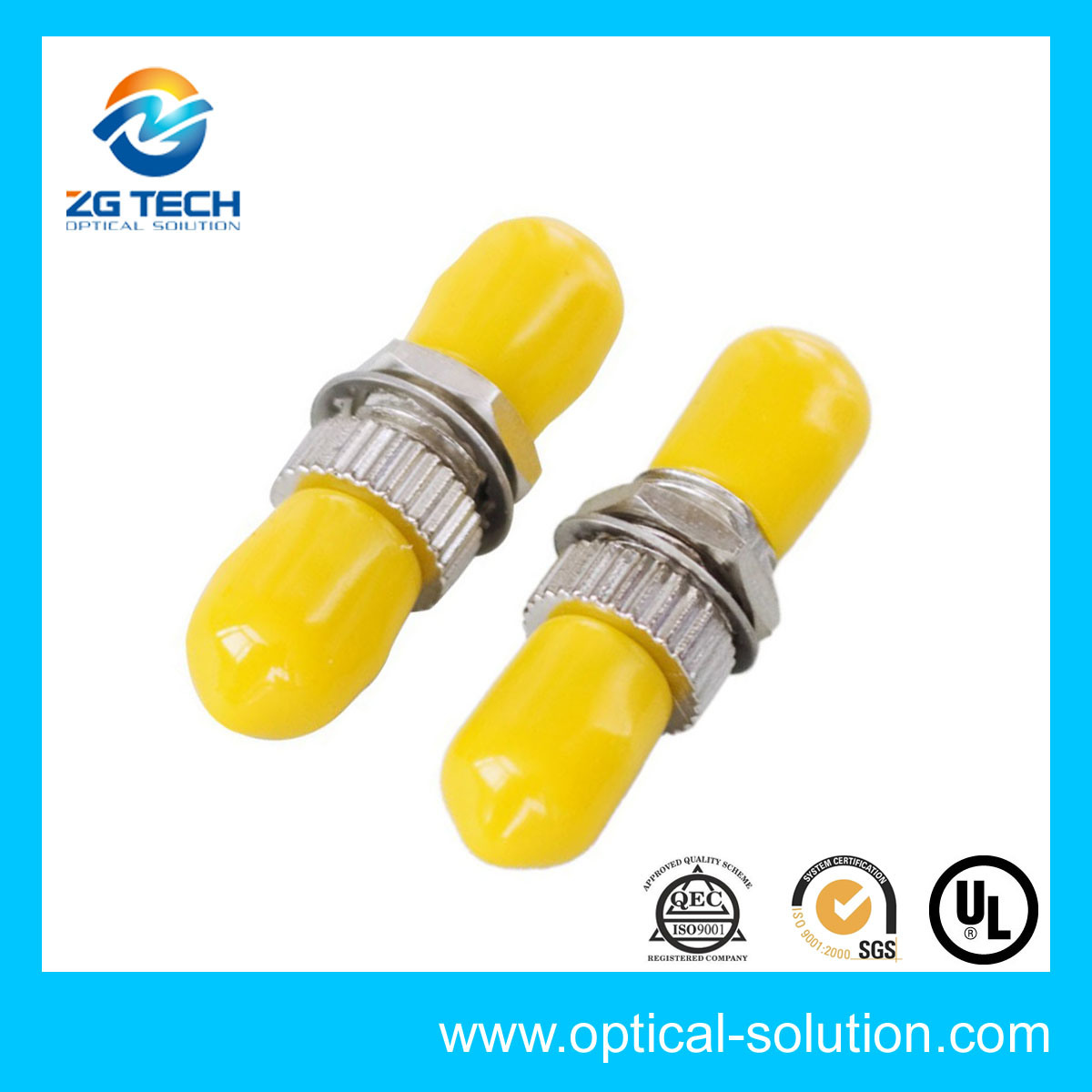 Sc Duplex Fiber Optic Adapter Sinlgemode