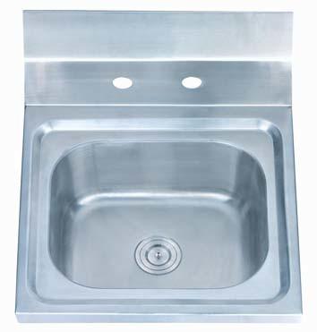 Wash Basin With Backsplash Splash Board Commercial Utility Sink Stainless Steel Hand Sink Hand Basin A59