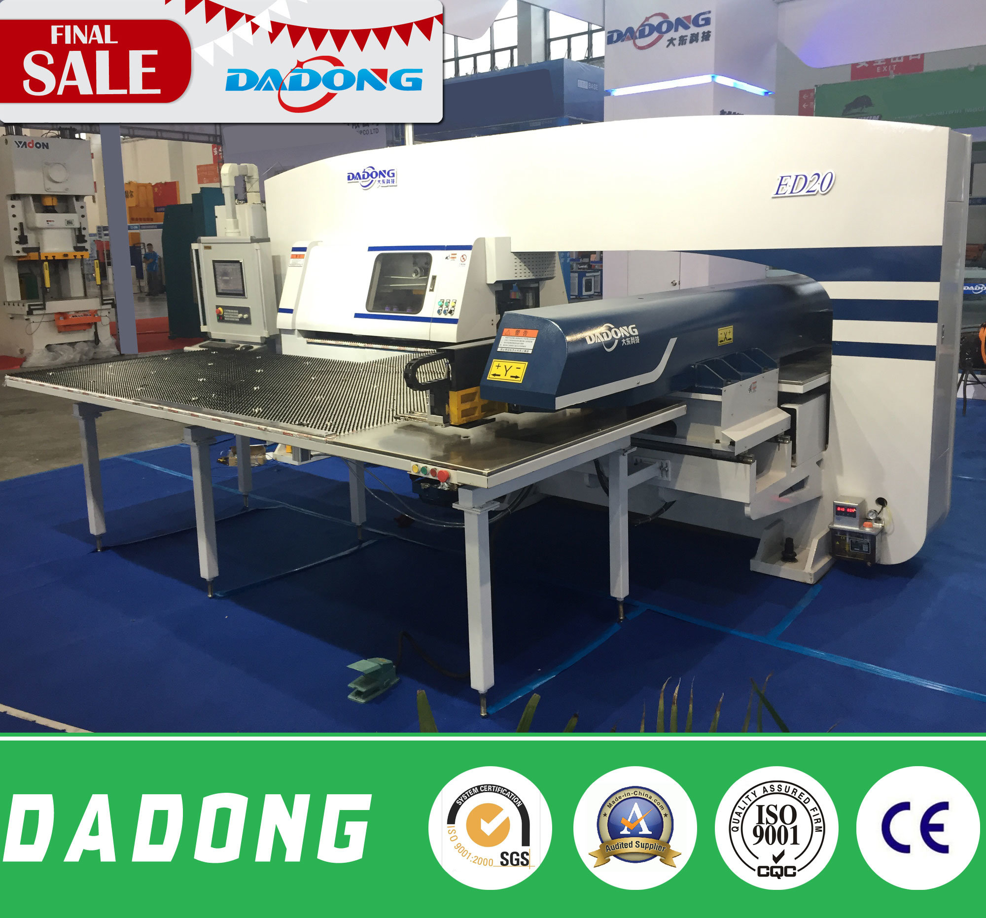 ED200 High Speed Double Servo Punch Press Machine