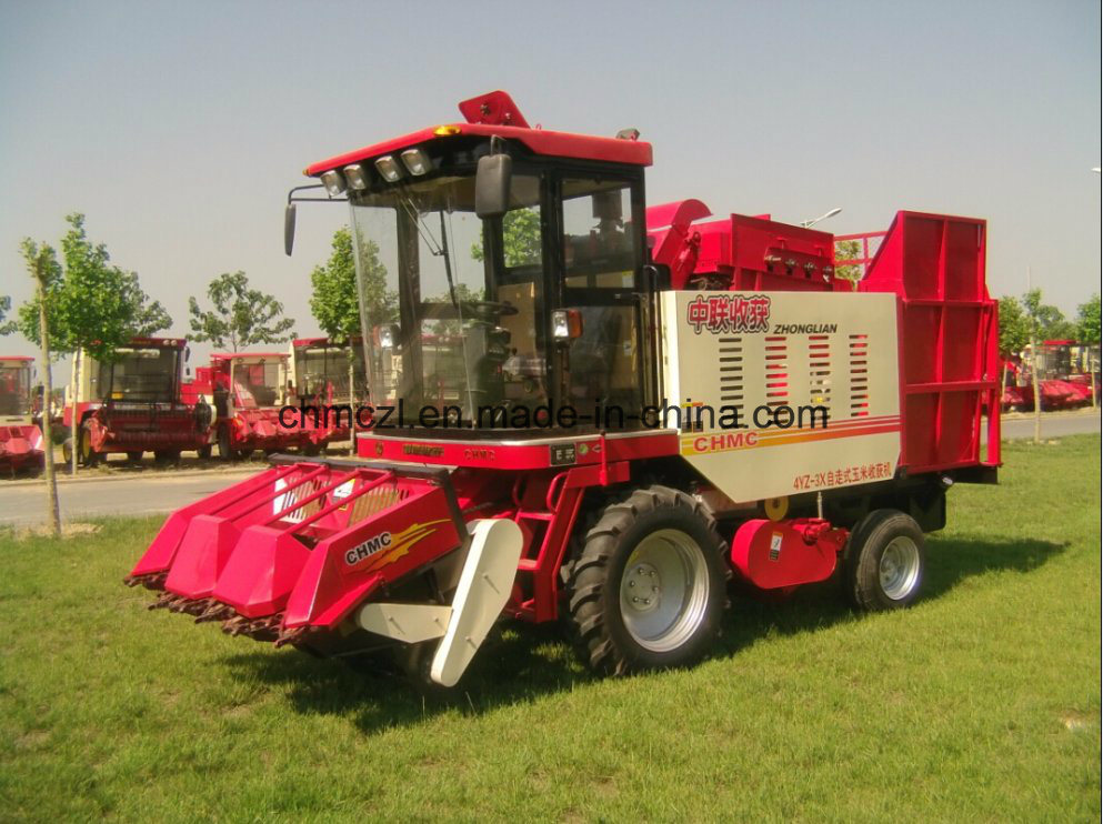 Wheel Type Best Price of Mini Corn Combine Harvester