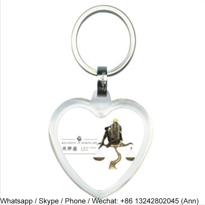 Heart Shape Acrylic Key Chain