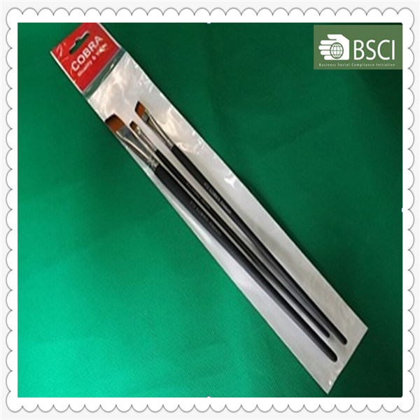 973 Short Flat Wooden Handle Artist Brush