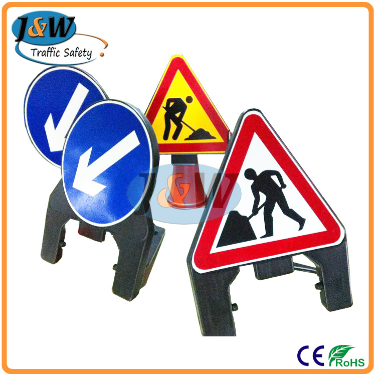 Traffic Cone Mounted Plastic Road Traffic Signs