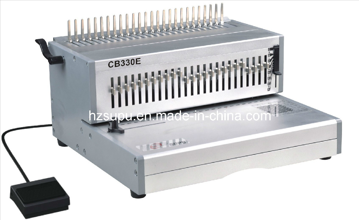 Electric FC Size Comb Binding Machine for Book Punching and Binding (CB330E)
