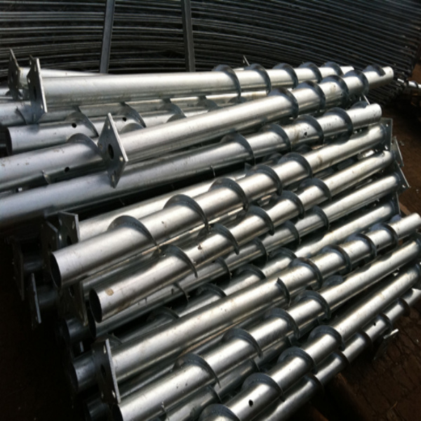 Ground Screw Piles for Foundation of Mounting Solar Photovoltaic Bracketsof PV System