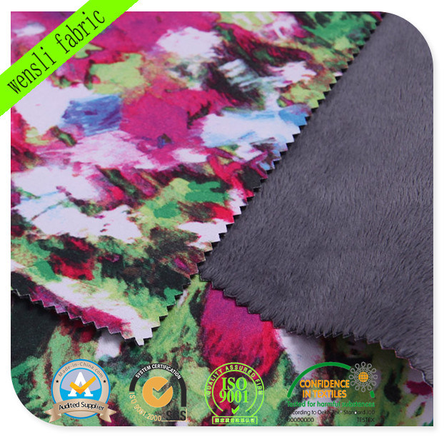 Funtional Printed TPU Bonded Softshell Fabric with SGS Approved (14717-C)