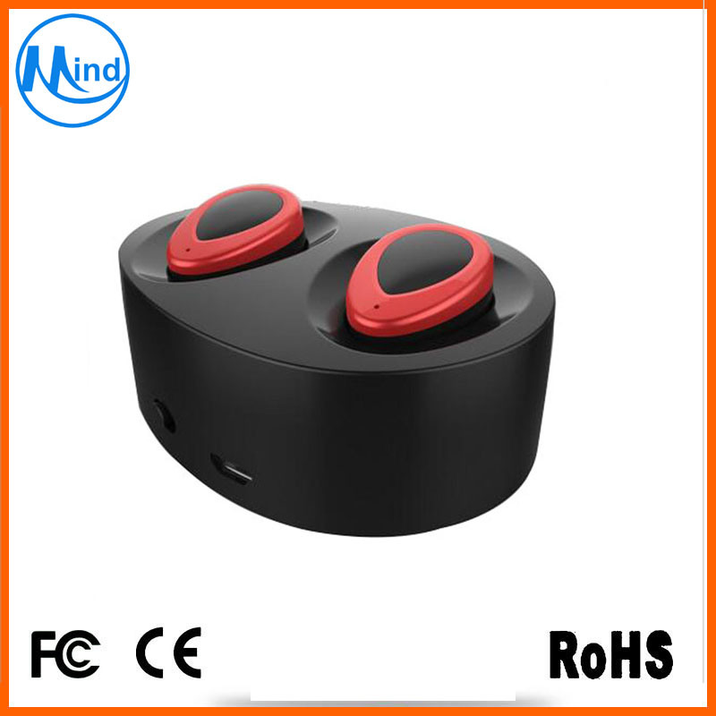 Fashion Popular True Wireless Bluetooth Headset Headphone with 450mAh Charging Box