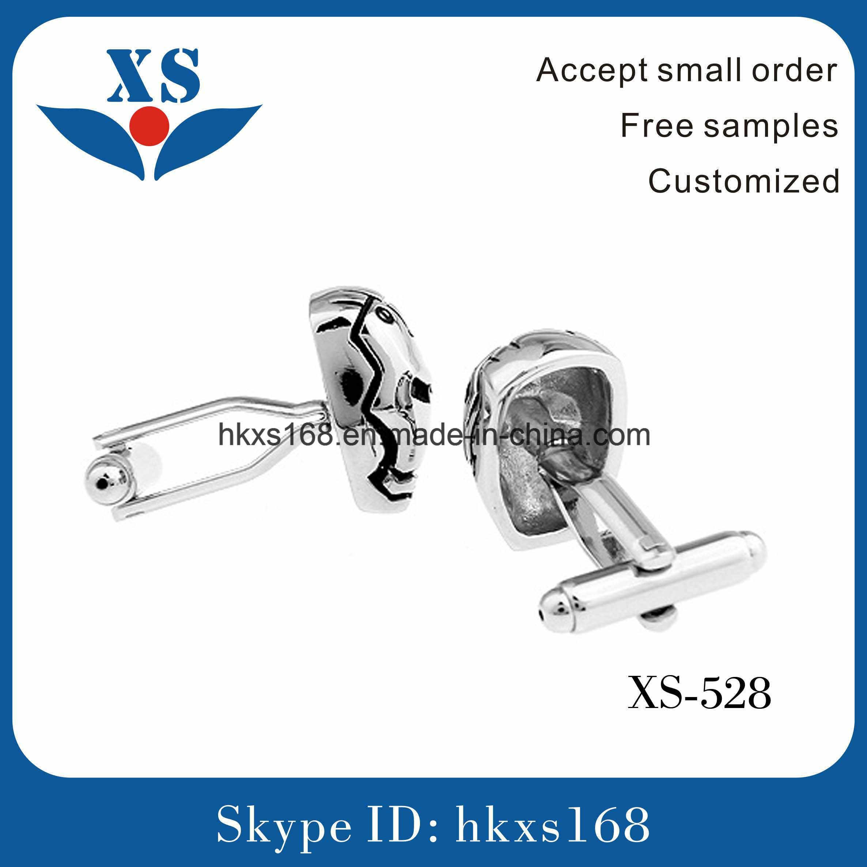 Skull Shape Custom Cufflink (IP plating)