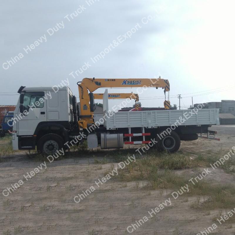 Sinotruk 4X2 Light Truck Crane 8t Mounted Truck Crane