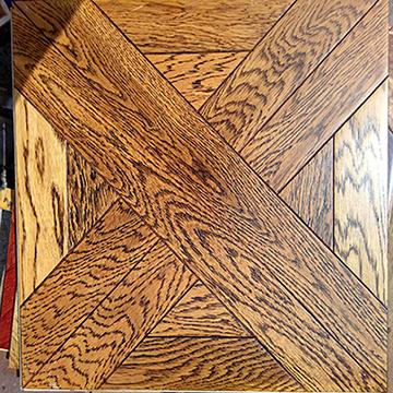 Multilayer UV Art Parquet Engineered Wood Flooring Mosaic Style