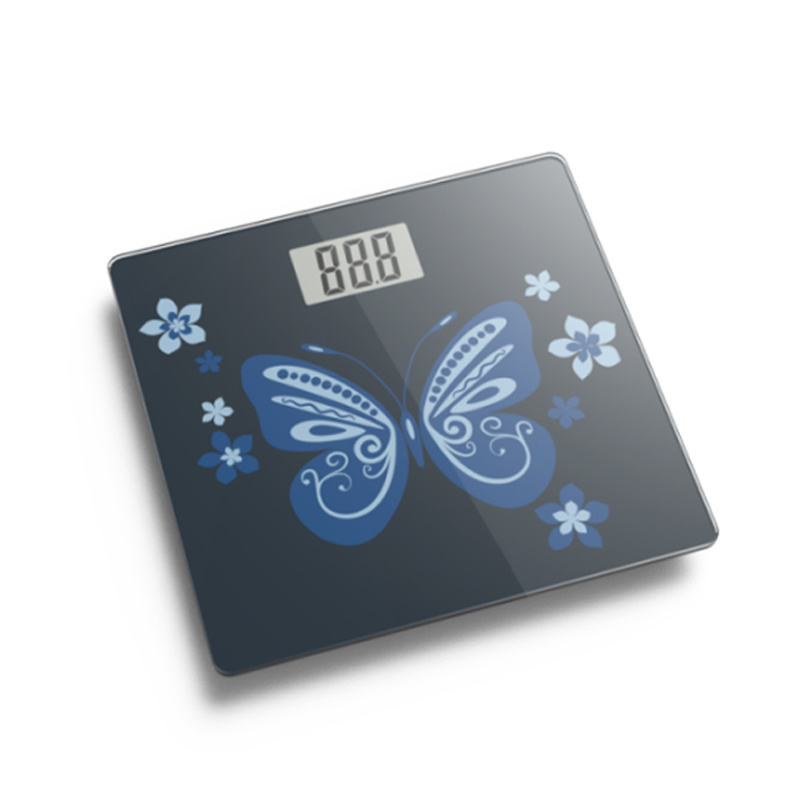 Large LCD Display Electronic Weighing Bathroom Scale with Full Plastic Base