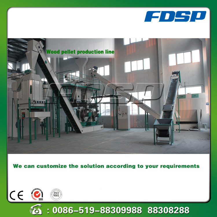 Complete 1-10t/H Wood Pellet Production Line Wood Pellet Plant