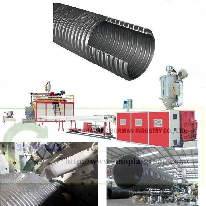 HDPE Spiral Winding Pipe Line