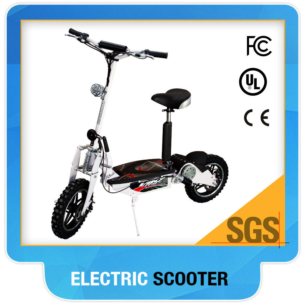 2015new Type CE Approved 14 Big Wheel 36V1000W Brushless Best Quality High Speed Electric Scooter for Adult