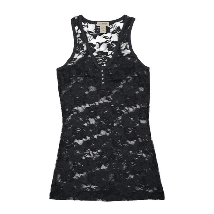 Fashion Clothing Sexy Lace Kintted Lady Vest Tank Top