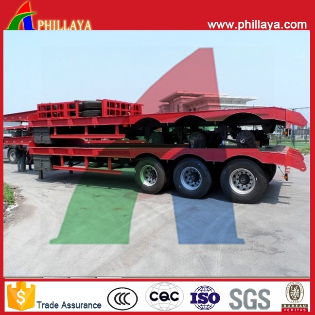 Phillaya Made 3 Axles 60tons Heavy Duty Lowbed Semi Trailer