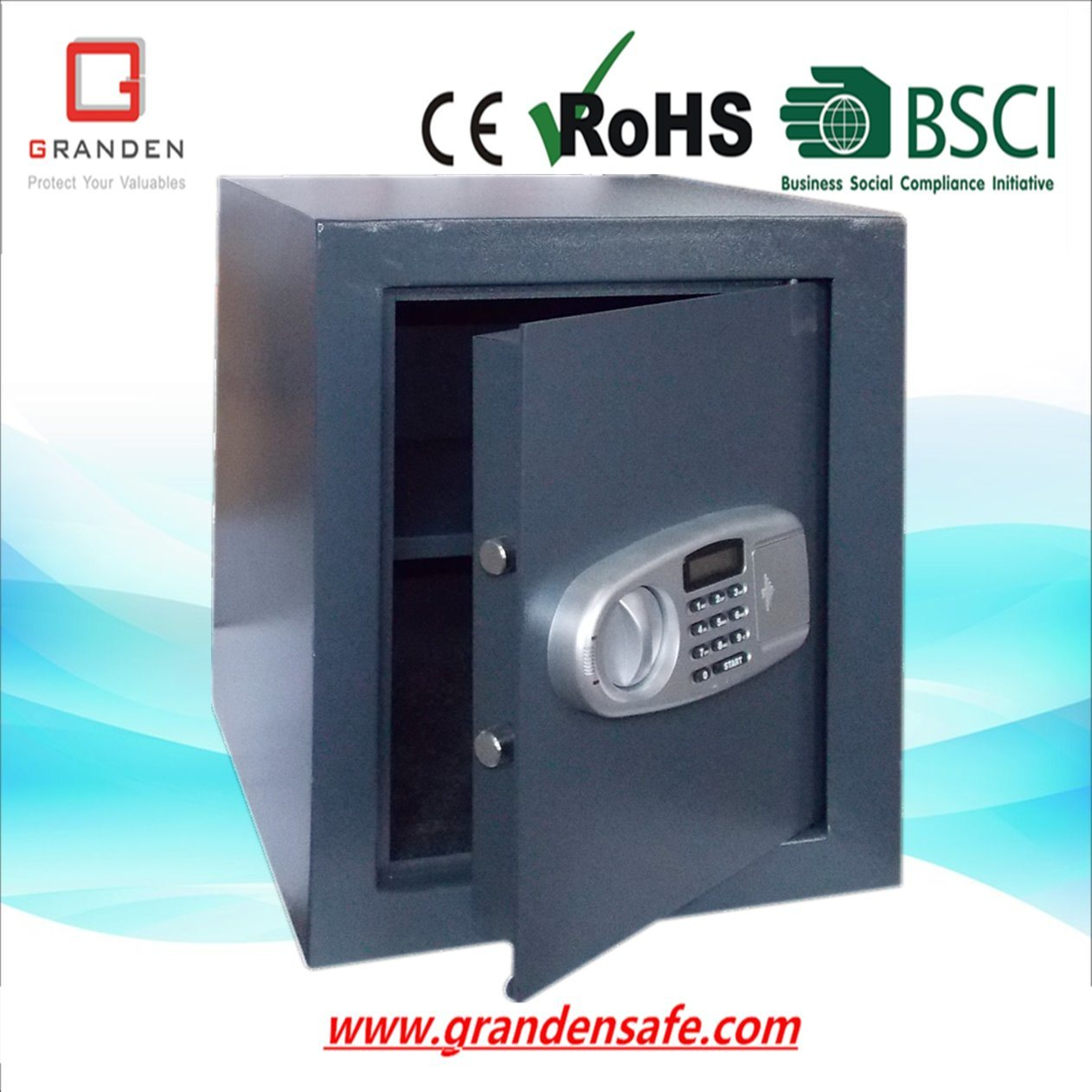 Fireproof Safe with LCD Display for Home and Office (FP-48EL) , Solid Steel