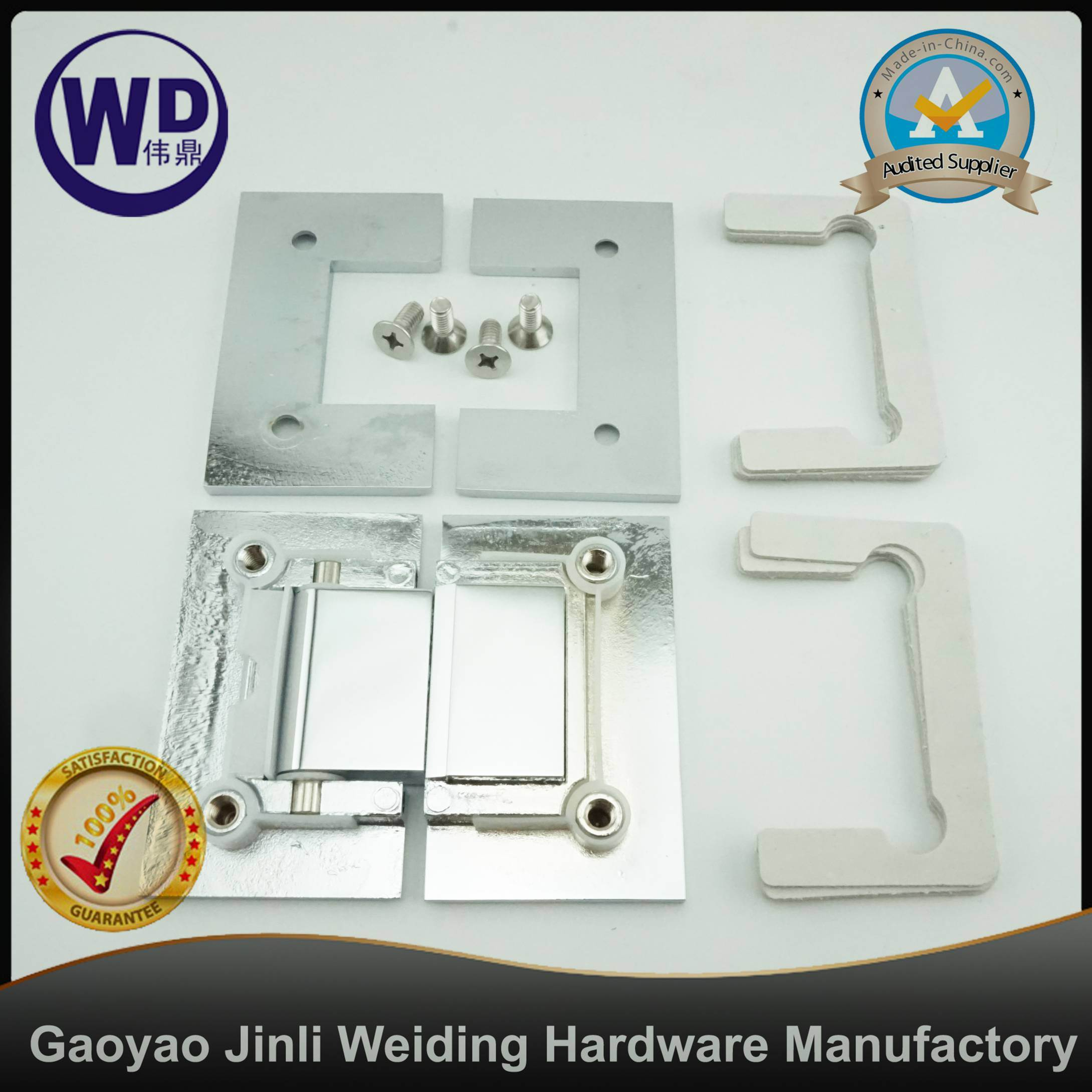 180 Degree Shower Hinge Glass to Glass Mount