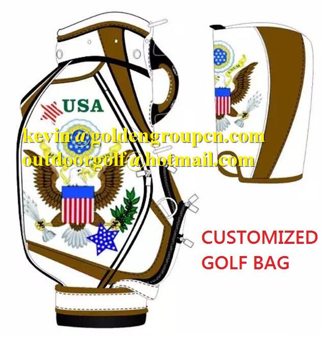 Crocodile Leather Golf Caddy Bags Men Fashion Golf Bags Customized Golf Bag