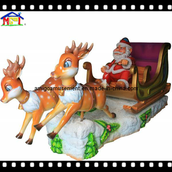 Christmas Kiddie Ride Santa′s Sled Holiday Fun Kids Game