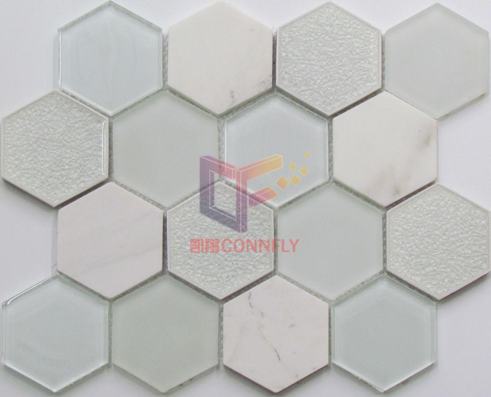 Cracked Crystal Mix Marble Stone Mosaic (CS250)
