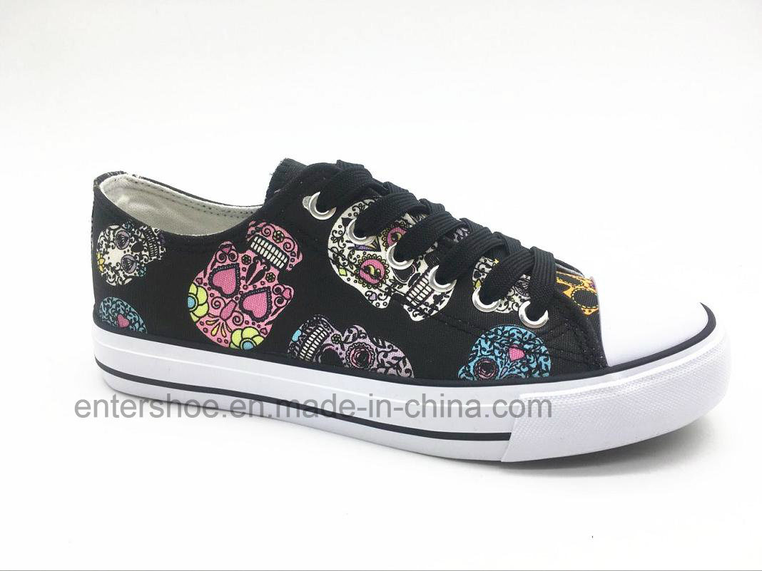 New Arrival Women Canvas Sneaker with Fading Color (ET-YH160160W)