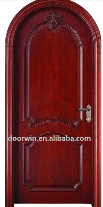 New Designs Interior Solid Wood Arched Bedroom Entry Door Design