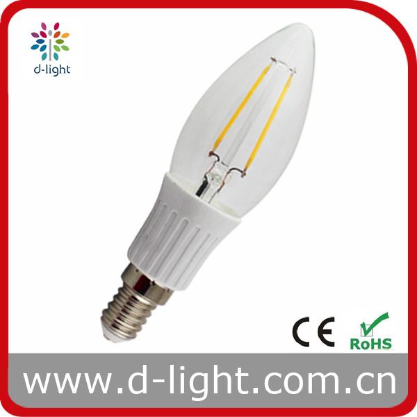 Popular Style Filament E14 Ceramic C35 LED Bulb