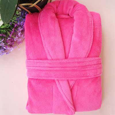 Printed Fleece Kimono Bathrobe