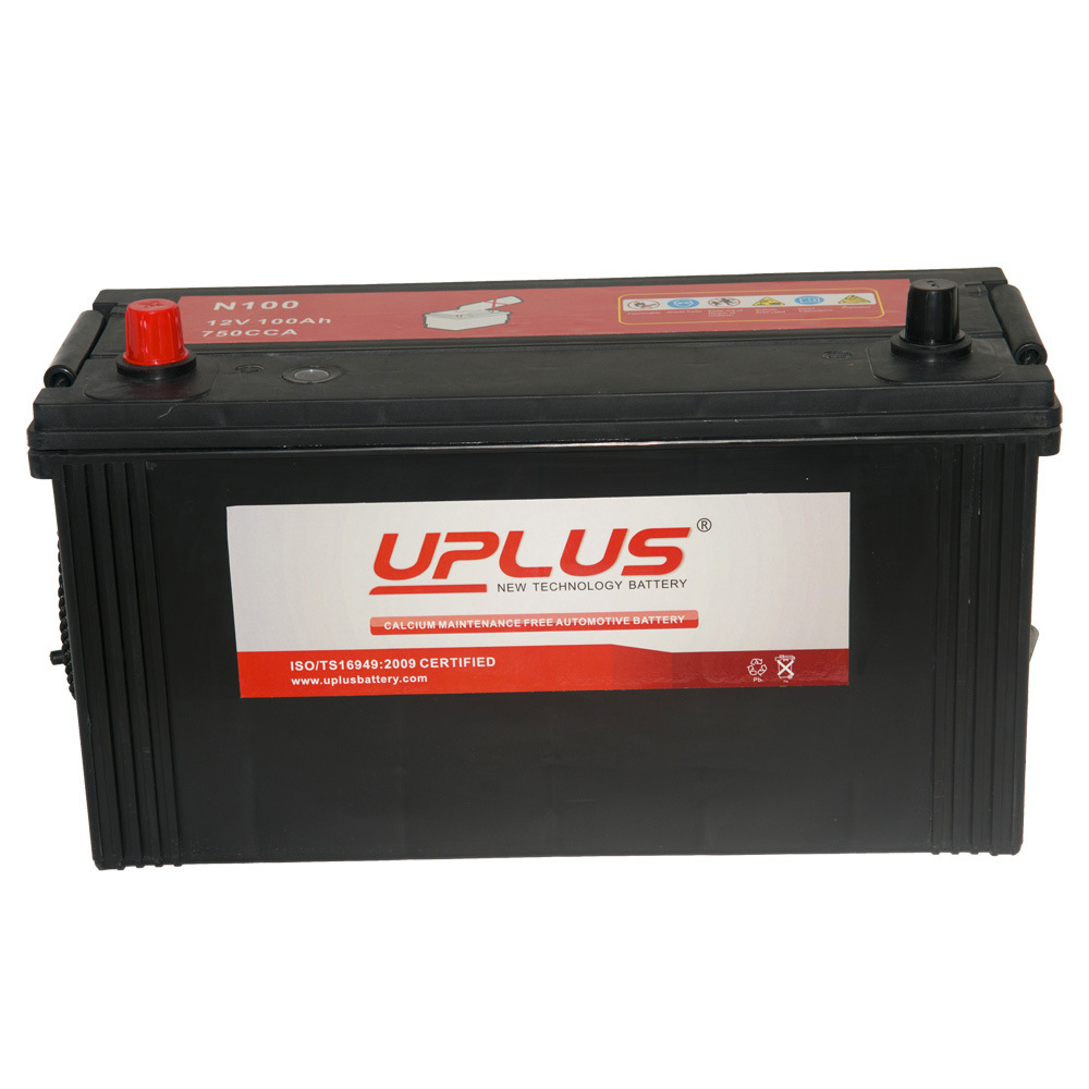 N100 12V Mentainence Free Truck Battery with ISO14001 Approved