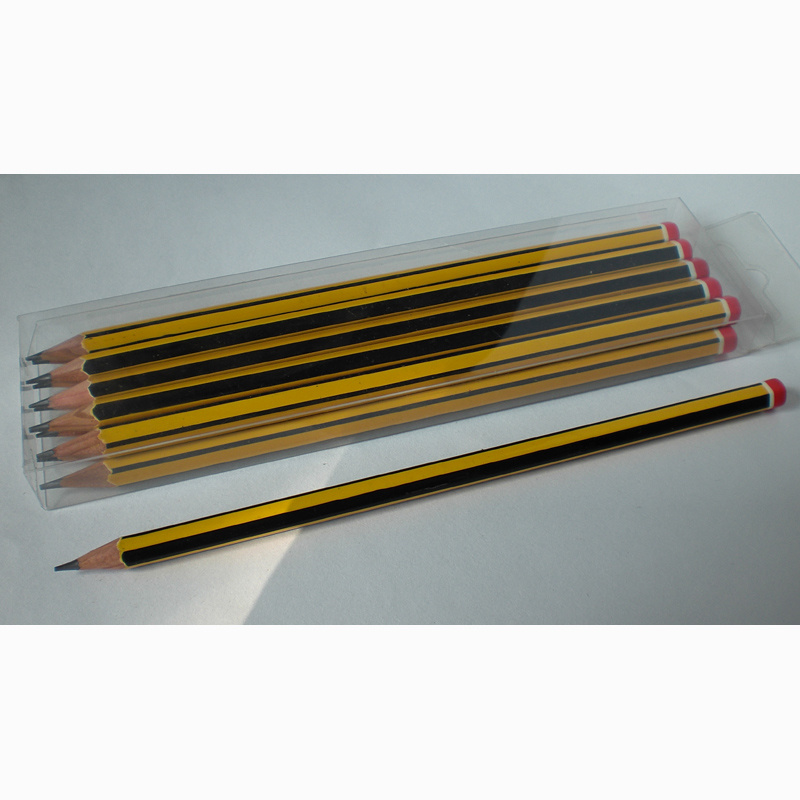 Black/Yellow Stripe Pencils Hb with DIP End (1616)