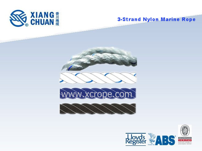 Dnv Approved 3 Strand Marine Rope / Nylon Rope