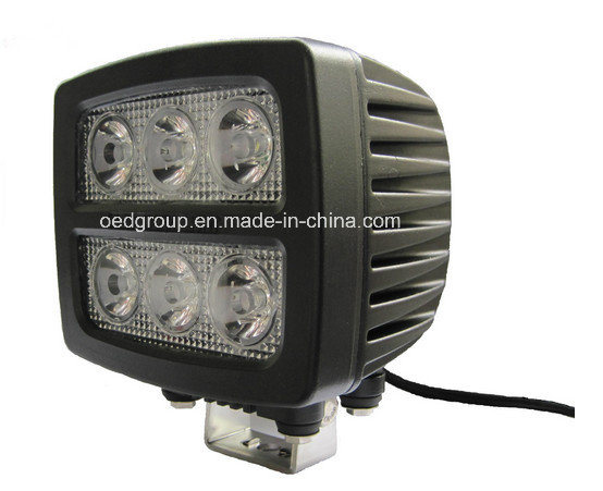 18W Rectangular LED Vehicle Work Light
