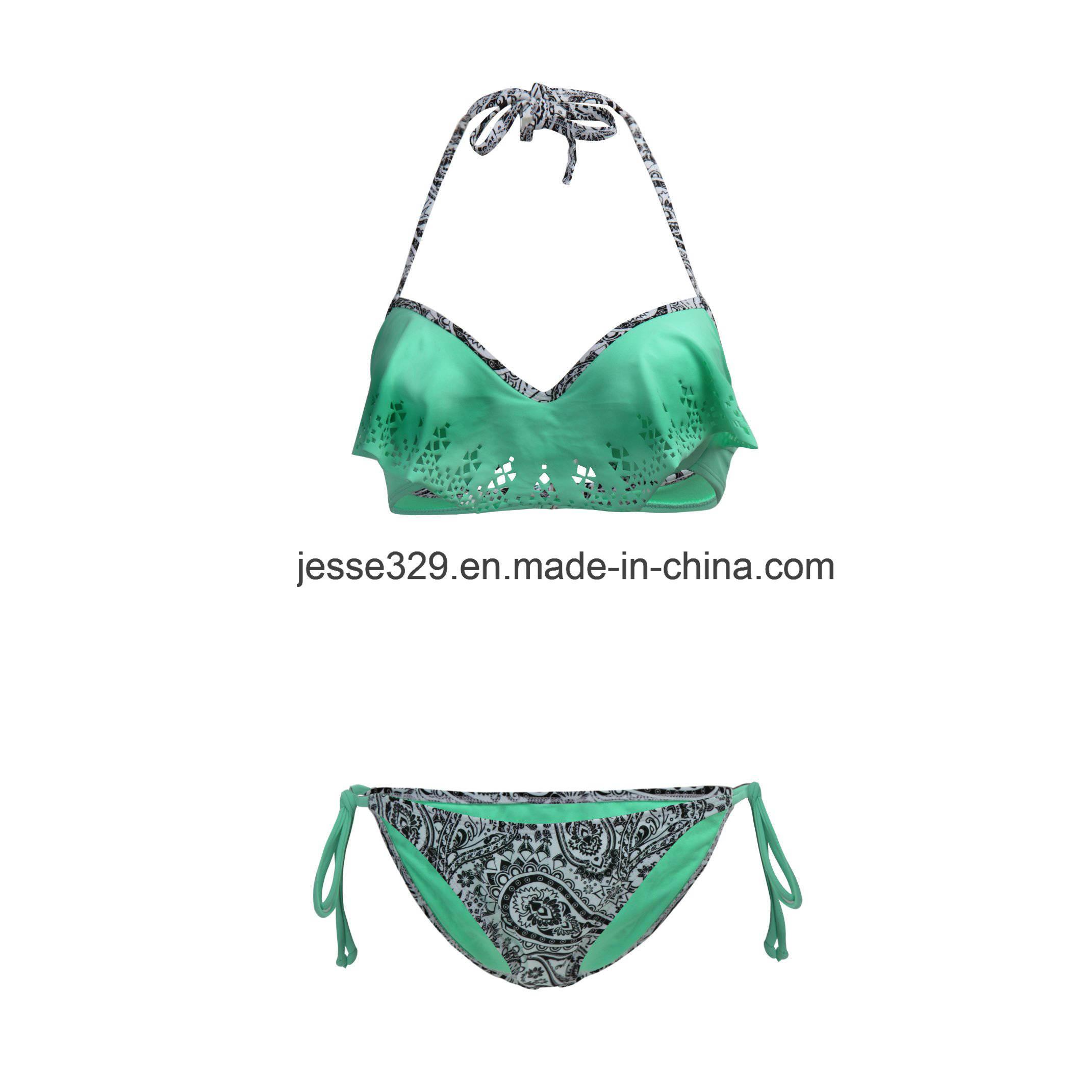 Sexy Popular Laser Cut Two-Piece Bikini Swimwear