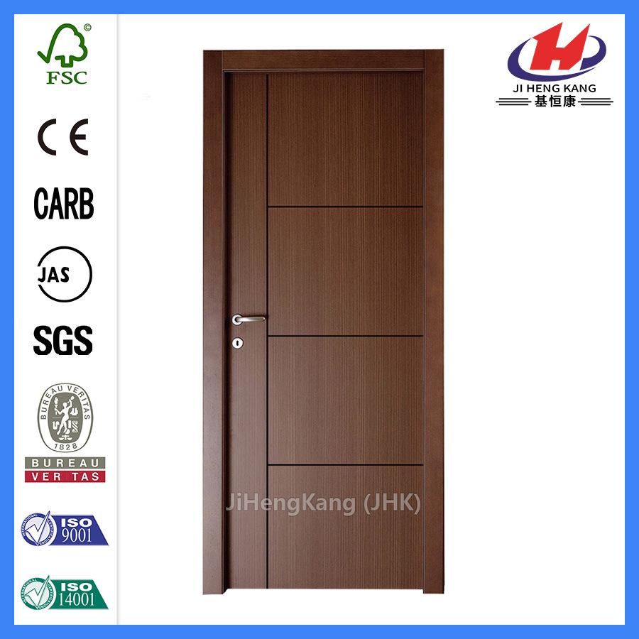 Composite Hollow/Solid Wooden Interior Modern Wood Groove Flush Door (JHK-FC03)