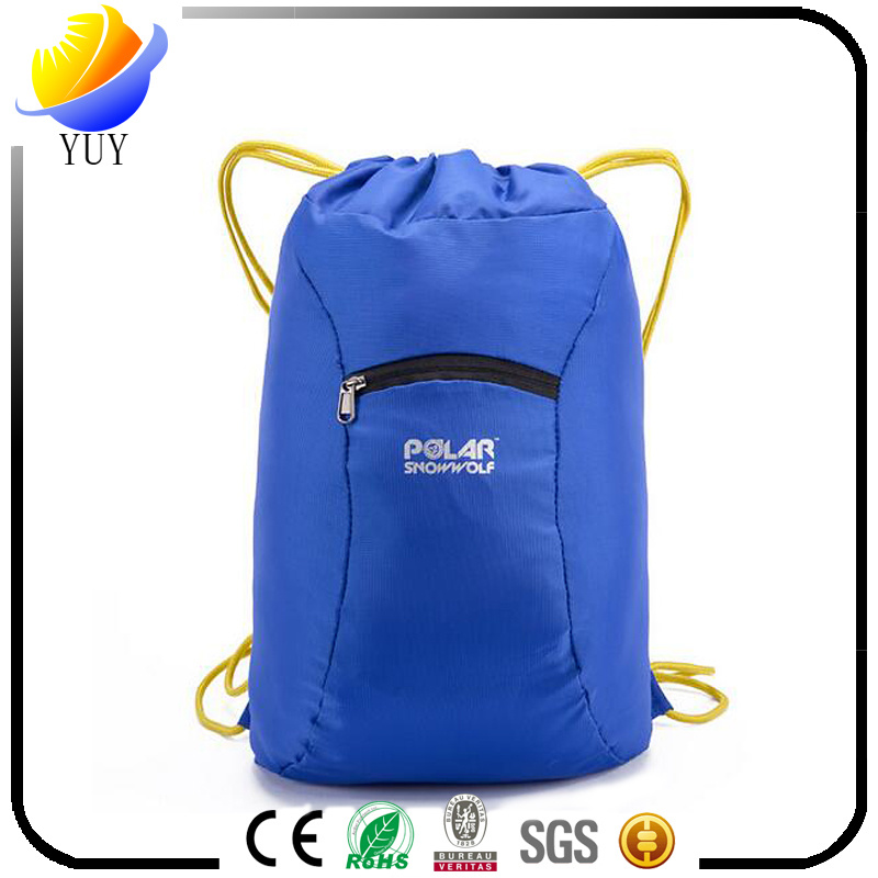 Creative Design High Quality Polyester and Nylon Drawstring Backpack and Drawstring Bag