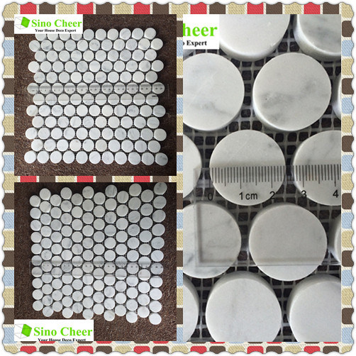 Building Material Stone Tile Carrara White Marble Mosaic