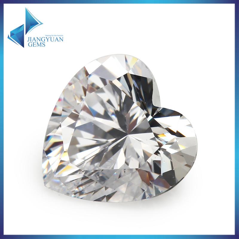 Loose Gemstones Heart Shape Cubic Zirconia Stone