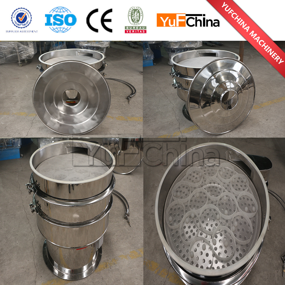 High Quality Vibrating Sieve Machine / Food Grade Rotary Vibrating Screen