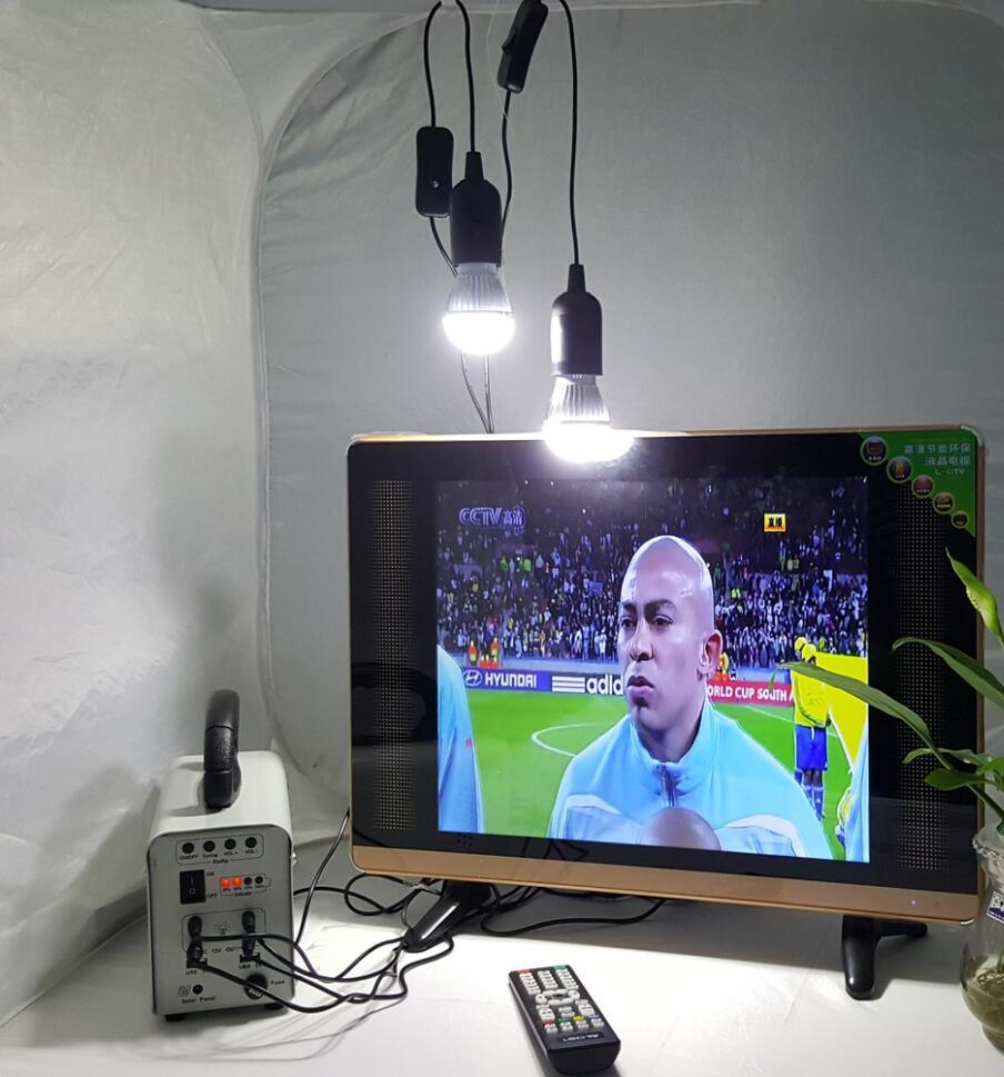 Portable Solar DC TV with LED Lights for Africa