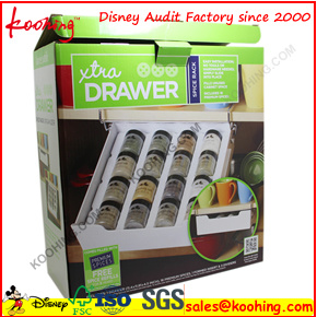 Black Promotional Corrugated Hang Box with Clear PVC Window