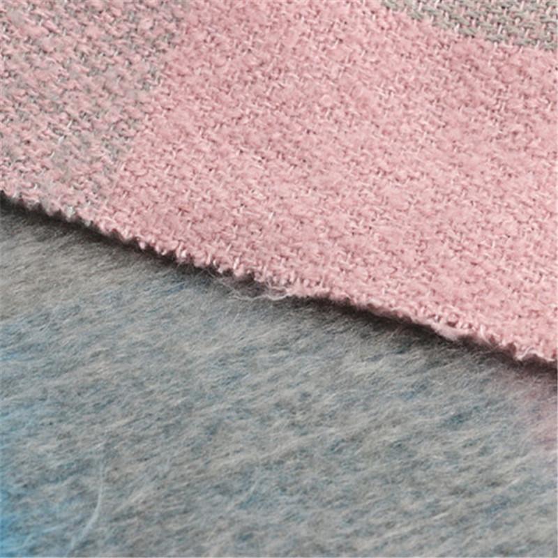 70%Polyester 30% Wool Checks for Women Garment