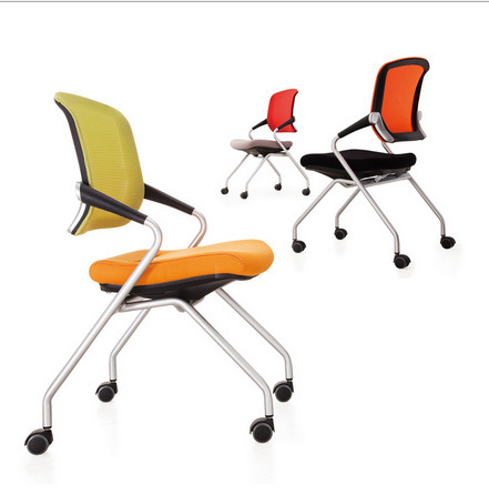 School Library Lab Office Wheels Mesh Folding Traning Chair (NS-5CH267)