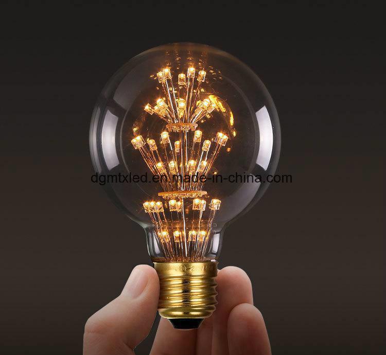 MTX LED bulb E27 2W Vintage Edison lamp ST48 transparent Glass Filament light Retro lamps AC220V