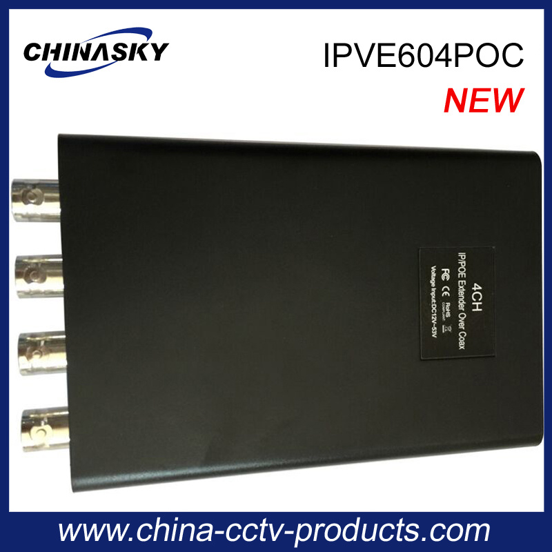 4CH IP Poe Extender Over Coax for CCTV Camera (IPVE604POC)