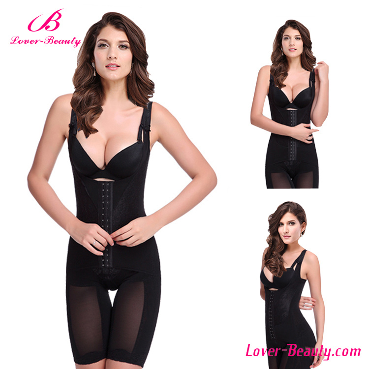 Hotselling Sexy Black Plastic and Steel Boned Shapewear Slimming Look