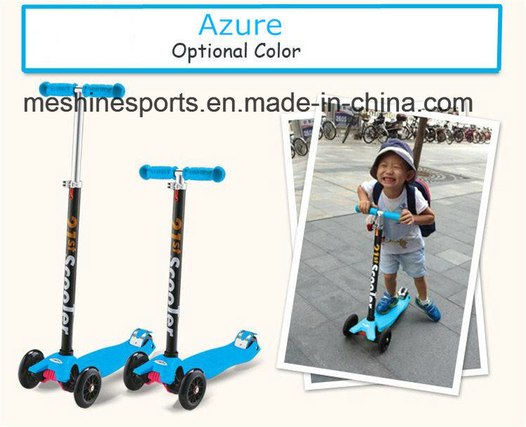 Hight Adjusted Aluminium Practical Maxi Foot Kick Scooter with Three Wheels